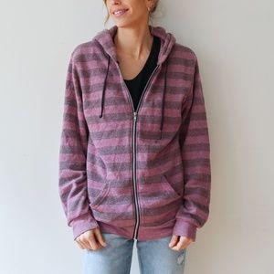 Alternative Apparel Purple Stripe Sweatshirt